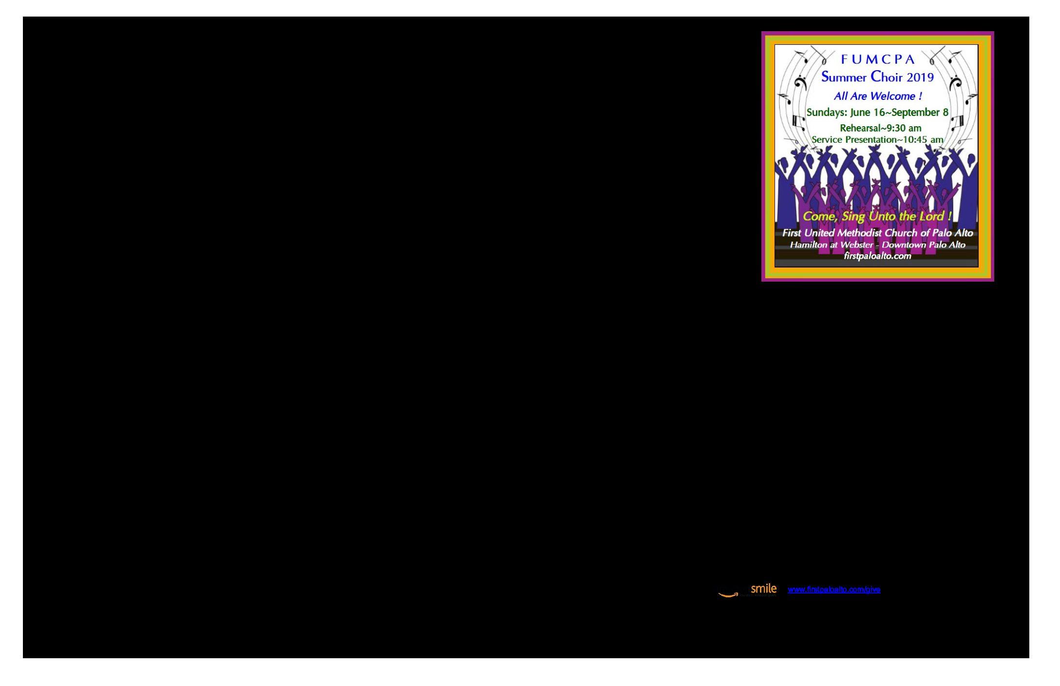 8.25.19 Worship Bulletin