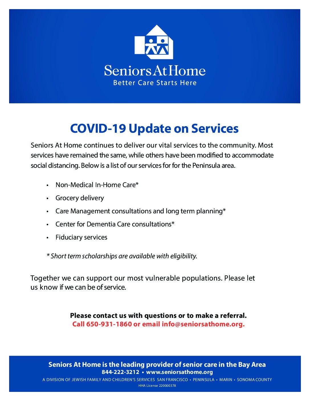 SAH services COVIDupdate flyer_peninsula